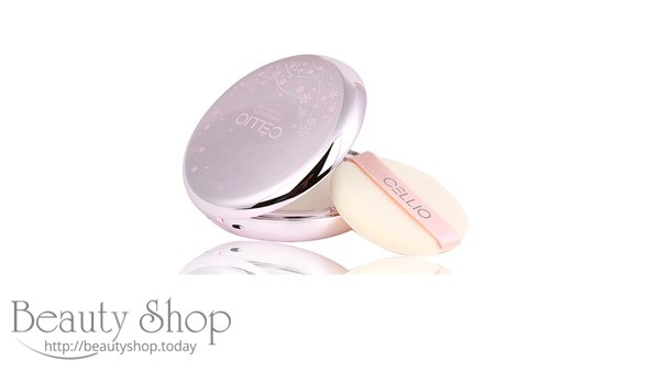 Phấn Phủ Cellio Shining Powder Pact  2 Lõi